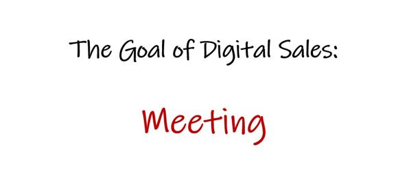 Digitaalisen B2B myynnin tavoite on kokous
