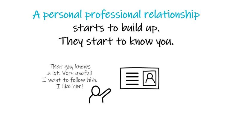 Rakenna henkilökohtainen ammattisuhde lukuisiin