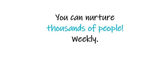 Voit olla läsnä ja kypsytellä tuhansia ihmisiä joka viikko.